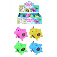 Unicorn Squeeze Ball with Beads 12pcs