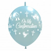 """Crozier 12"""" Blue 'On My Confirmation' Linking 50ct Latex"""