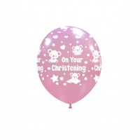 "Baby Koala 5"" 'On Your Christening' Pink 100ct Latex"