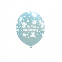 "Baby Koala 5"" 'On Your Christening' Sky Blue 100ct Latex"
