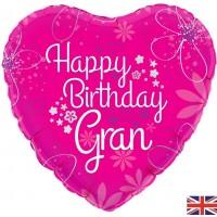 "Happy Birthday Gran - 18"" foil balloon"