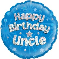 Happy Birthday Uncle - 18inch Foil Balloon