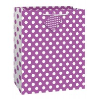 Purple Dots Medium Gift Bag -  (12 Gift Bags, €0.49each)