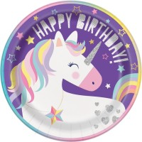 "Unicorn Party 9"" Plates 8ct"