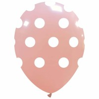 "Baby Pink Polka Dot 12"" Latex 25ct"