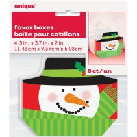 Snowman Favor Box 8ct