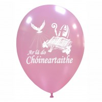 "Irish 12"" Confirmation Pink Latex 25ct"