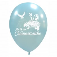 "Irish 12"" Confirmation Sky Blue Latex 25ct"