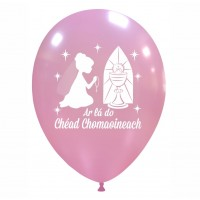 "Irish 12"" Communion Girl Pink Latex 25ct"