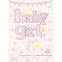 #86 Greeting Cards - Baby Girl 12pk