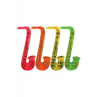 Inflatable Saxophone 55cm 4 Astd Neon Colours