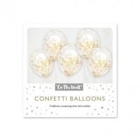 Gold Confetti 12-inch Latex Balloons 6ct