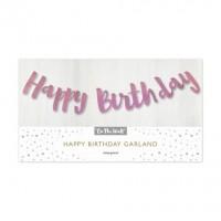 Happy Birthday Pink Garland