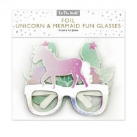 Unicorn and Mermaid Foil Fun Glasses 4ct