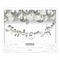 Silver Happily Ever After Stitched Garland