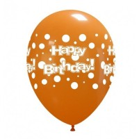 "Superior 11"" Happy Birthday Polka Dot Latex 50ct"