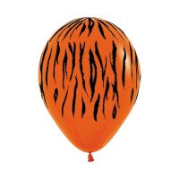 "Superior 11"" Tiger Print Latex 50ct"