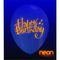 "Superior 12"" Neon Happy Birthday Latex 50ct"