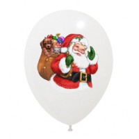 "Superior Santa Claus White 12"" Latex 25ct"