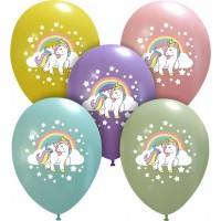 "Superior Unicorn and Rainbow  Colours 12"" Latex 25ct"