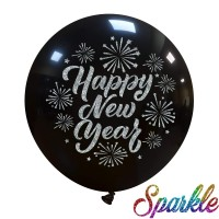 "Superior 24"" Glitter Happy New Year 1ct"