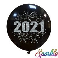 "Superior 24"" Glitter New Year 2021 1ct"