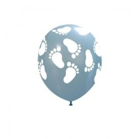 "Superior 5"" Blue Footprints Latex 100ct"