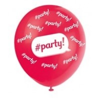 "Party  5CT 12"" Helium Fill Latex Balloon- Pearlized Assorted Colours, Printed All Around - 5ct"