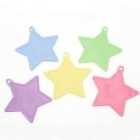 Pastel Star Assorted Plastic Weights x50