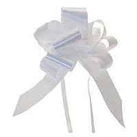 White Pull Bow 50mm - Pack of 20