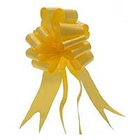Yellow Pull Bow 50mm - Pack of 20