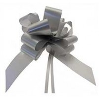 Silver Pull Bow 50mm - Pack of 20