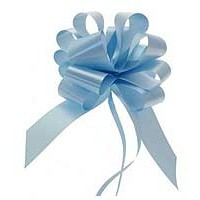 Light Blue Pull Bow 50mm - Pack of 20