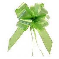 Lime Green Pull bow 50mm - Pack of 20