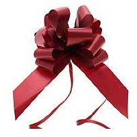 Burgundy Pull Bow 50mm - Pack of 20