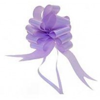 Lavender Pull Bow 50mm - Pack of 20