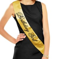 Black & Gold - Birthday Girl - Sash
