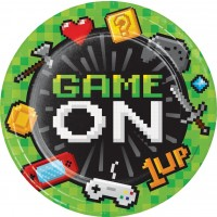 Gaming Party Paper Dinner Plates Sturdy Style 8Ct