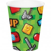 Gaming Party Paper Cups 9oz 8Ct