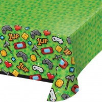 Gaming Party Plastic Tablecover All Over Print 1Ct