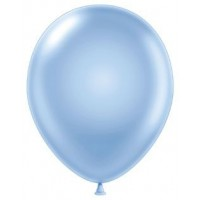 "12"" Light Blue Pearlised Latex Balloons 100ct"