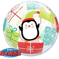 "Penguins and Presents - 22"" Bubble"
