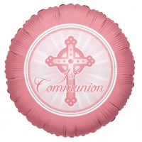 "Pink Communion 18"" Foil Balloon"