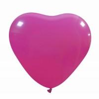 "Fuchsia Superior Heart 17"" Latex BalloonS 10Ct"