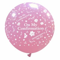 """On My Confirmation 32"""" Pink Giant Latex Balloon"""
