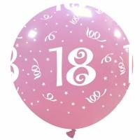 "32"" Pink 18 Latex Balloon 1Ct"