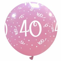 "32"" Pink 40 Latex Balloon 1Ct"