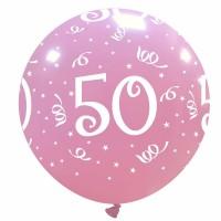 "32"" Pink 50 Latex Balloon 1Ct"
