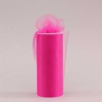 Hot Pink Tulle (15cm x 23m)
