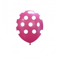"Superior 5"" Pink Polka Dots Latex 100ct"